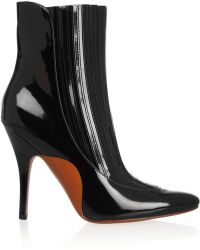 Alexander Wang Magda Patent-leather Ankle Boots - Lyst