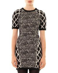 Elizabeth And James Argon Jacquard Body-Con Dress black - Lyst