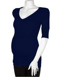 Michael Stars Maternity Elbow Sleeve Deep Vee - Lyst