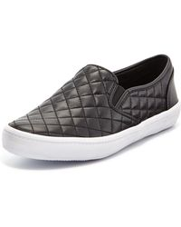 Rebecca Minkoff Sal Leather Quilted Skate Sneaker - Lyst