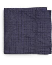 Armani Abstract Print Silk Pocket Square - Lyst