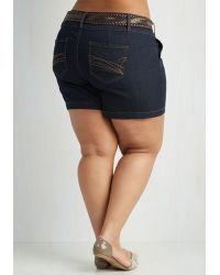 Boom Boom Jeans - Never Belt So Good Shorts In Plus Size - Lyst