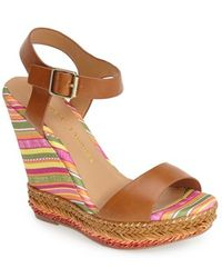 Chinese Laundry 'Mahalo' Wedge Sandal brown - Lyst