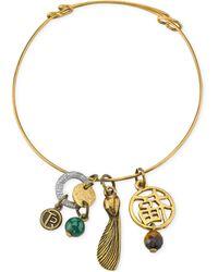 Tru. - Two-tone Talisman Of Insight Charm Bracelet - Lyst