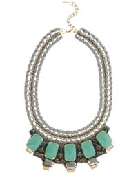 Karen Millen Statement Necklace green - Lyst