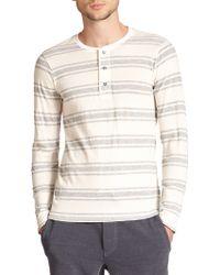Splendid Mills Striped Long-Sleeved Henley white - Lyst