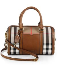 Burberry Alchester Canvas Bowler Bag - Lyst