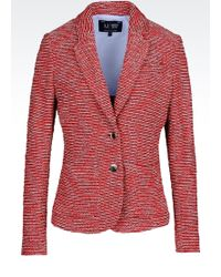 Armani Jeans Jacket In Cotton Blend Knit - Lyst