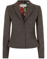 Hobbs Herringbone Jacket - Lyst