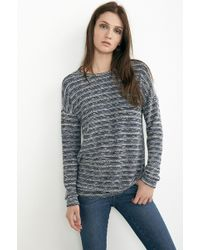 Velvet By Graham & Spencer Lyon Denim Terry Slub Dolman Top - Lyst