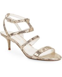 Enzo Angiolini - Biarritz Strappy Leather Sandals - Lyst