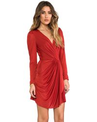 Beyond Vintage | Drapped Dress in Red | Lyst