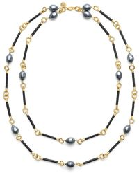 Tory Burch Rowan Double Strand Necklace - Lyst