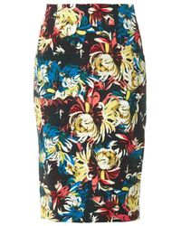 Erdem Frida Trinity Blossomprint Pencil Skirt - Lyst