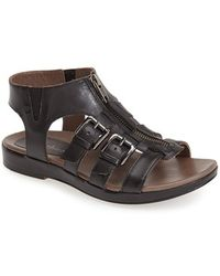 Earthies® 'Versailles' Leather Sandal black - Lyst
