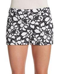 Diane von Furstenberg Napoli Embroidered Shorts - Lyst