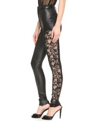 1f16ae8070158 Rodarte - Stretch Leather Pants - Black - Lyst