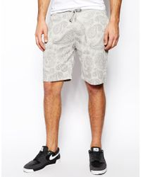Asos Jersey Shorts in Nepp with Paisley Print - Lyst