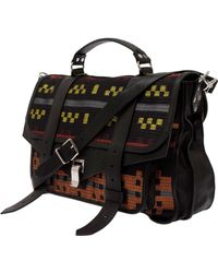 Proenza Schouler Ps1 Large Leather Jacquard Satchel - Lyst