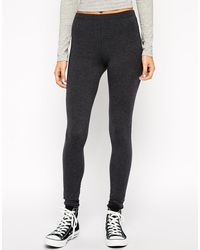Asos High Waisted Leggings in Charcoal - Lyst