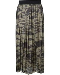 Enza Costa Long Pleated Skirt - Lyst