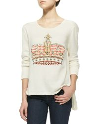 Sass & Bide - Enigma Beaded Crown Knit Top - Lyst