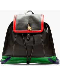 Alexander McQueen Black Skull Padlock Primary Trim Backpack - Lyst