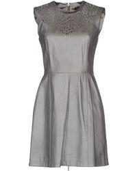 Catherine Deane Gray Short Dress - Lyst