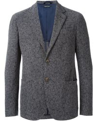 Giorgio Armani Gray Textured Blazer - Lyst