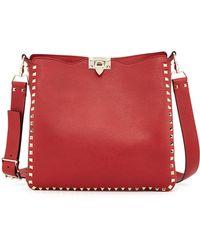 Valentino Rockstud Flip-lock Messenger Bag - Lyst