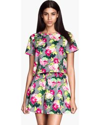 H&M Short Jersey Top - Lyst