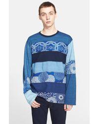 Junya Watanabe Multipanel Jersey T-Shirt blue - Lyst