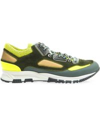 Lanvin Leather and Mesh Running Trainers - Lyst