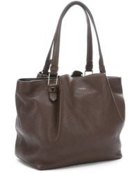 Tod's Brown Leather Top Handle Shopper Tote - Lyst