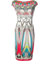 Blumarine Graphic Print Fitted Dress - Lyst