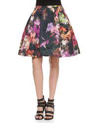 Ted Baker Cascading Floral Pleated Full Skirt - Lyst