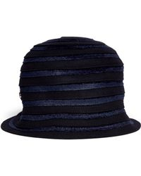 Armani - Felt and Velvet Cloche Hat - Lyst