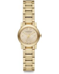 Burberry Goldtone Stainless Steel Watch26mm - Lyst