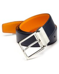 Saks Fifth Avenue Collection | Two-toned Reversible Saffiano Leather Belt | Lyst