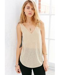 Silence + Noise Silence  Noise Graphic Strap Tank Top - Lyst