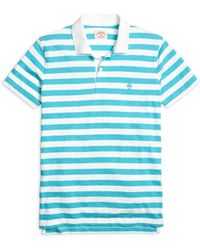 Brooks Brothers Wide Stripe Polo Shirt - Lyst