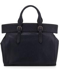 Bottega Veneta Madras Large Top-Handle Tote Bag - Lyst
