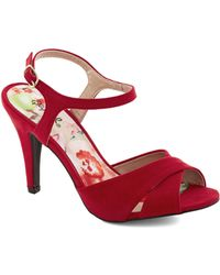 ModCloth Boldly Beautiful Heel red - Lyst