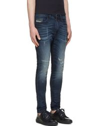 Diesel Blue Distressed Spencer_Ne Jogg Jeans - Lyst