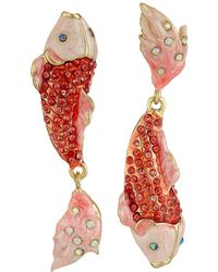 Betsey Johnson | Critters Pave Fish Non-matching Earrings | Lyst