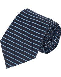 Armani Stripe Jacquard Neck Tie - Lyst