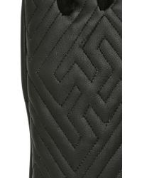 Ktz Quilted Leather Gloves - Lyst