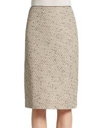 Lafayette 148 New York Metallic Tweed Straight Skirt - Lyst