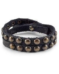 Polo Ralph Lauren - Studded Leather Bracelet - Lyst