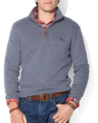 Ralph Lauren Polo French-rib Half-zip Pullover - Lyst